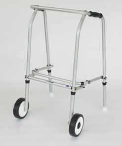 Aluminium Folding Adjustable Walker Narrow -2 Wheels/ 2 Glide Feet