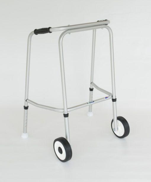 Standard Adjustable Walker SHORT 2 Wheels / 2 Glide Feet